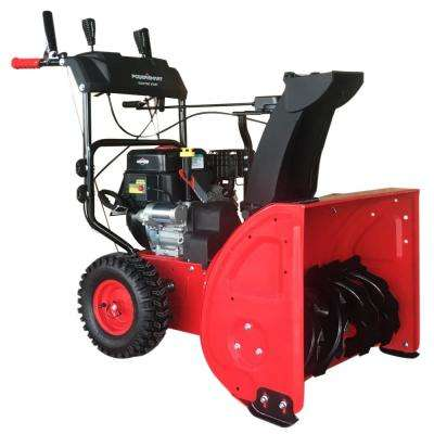 24 in. Two-Stage Electric Start Briggs Stratton Gas Snow Blower