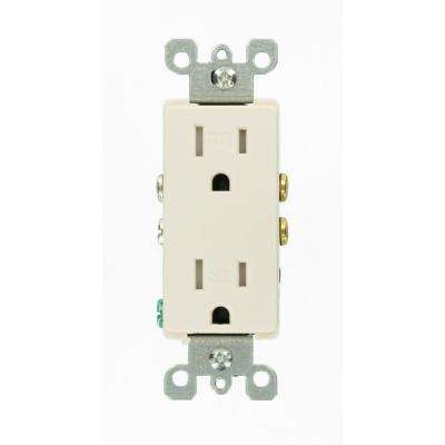 Decora 15 Amp Tamper-Resistant Duplex Outlet, Light Almond