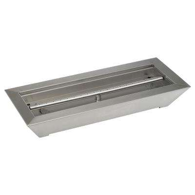 24 in. W x 10 in. D x 4 in. H Stainless Steel Paramount Fireplace Pan Burner