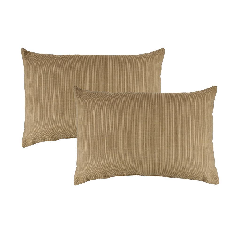 Sunbrella Dupione Bamboo Boudoir Outdoor Pillow (set of 2)