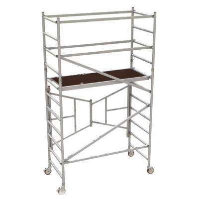 6 ft. x 2.6 ft. x 5.4 ft. Easy-Set Scaffold Tower with Guardrails 792 lbs. Load Capacity