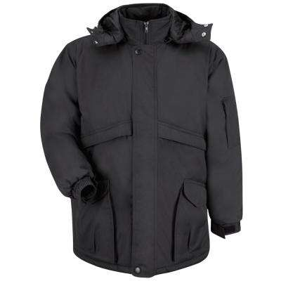 Men's Large Black Heavyweight Parka