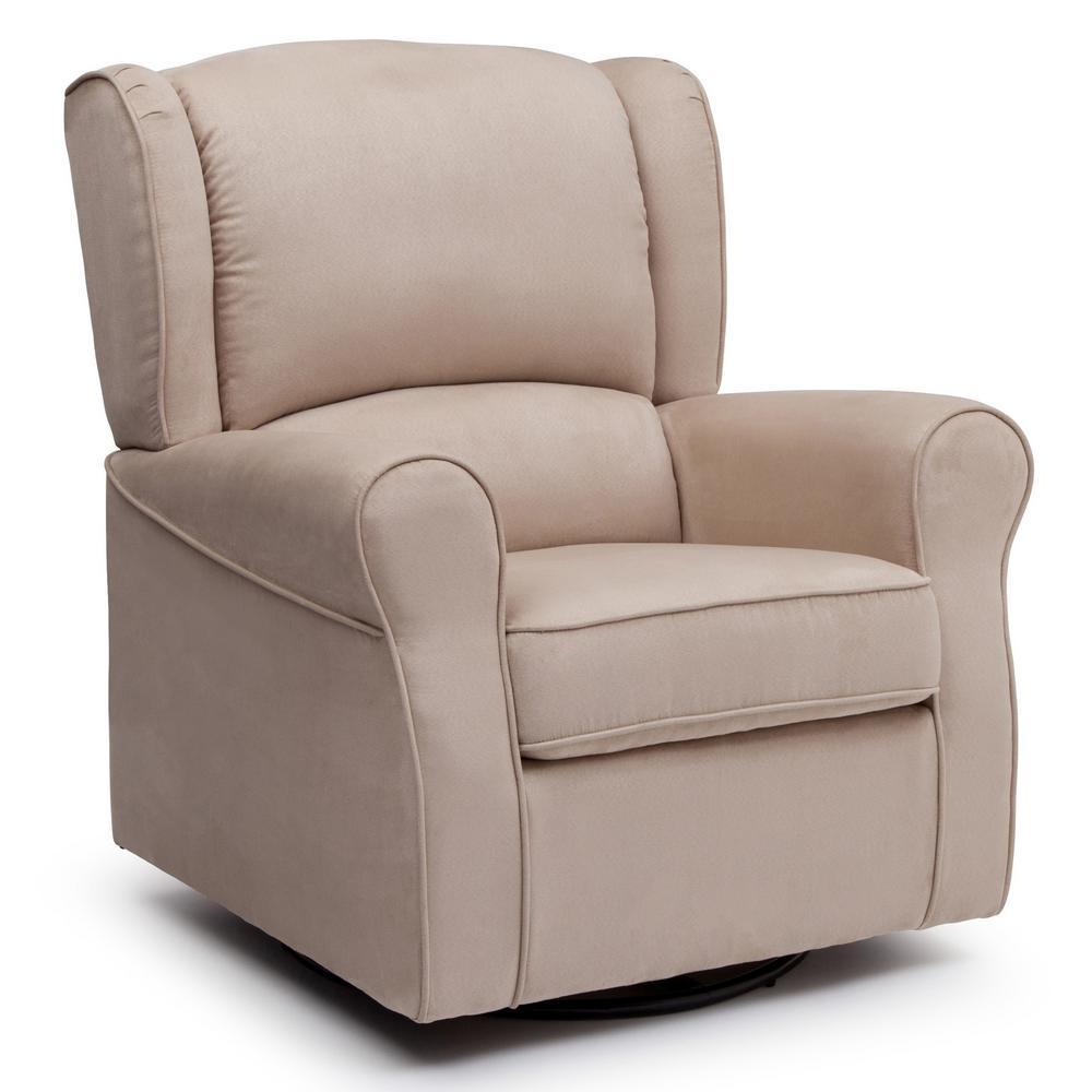 Delta Children Nursery Glider Ecru White Swivel Rocker Chair Morgan