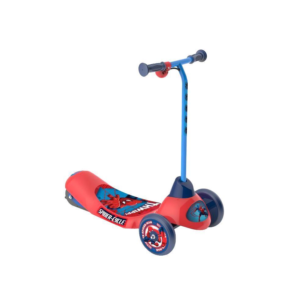 Spider Man Safe Start 3-Wheel Electric Scooter