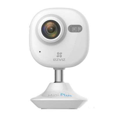 Mini Plus HD 1080p Wi-Fi Video Security Camera 16GB MicroSD Works with Alexa Using IFTTT, White