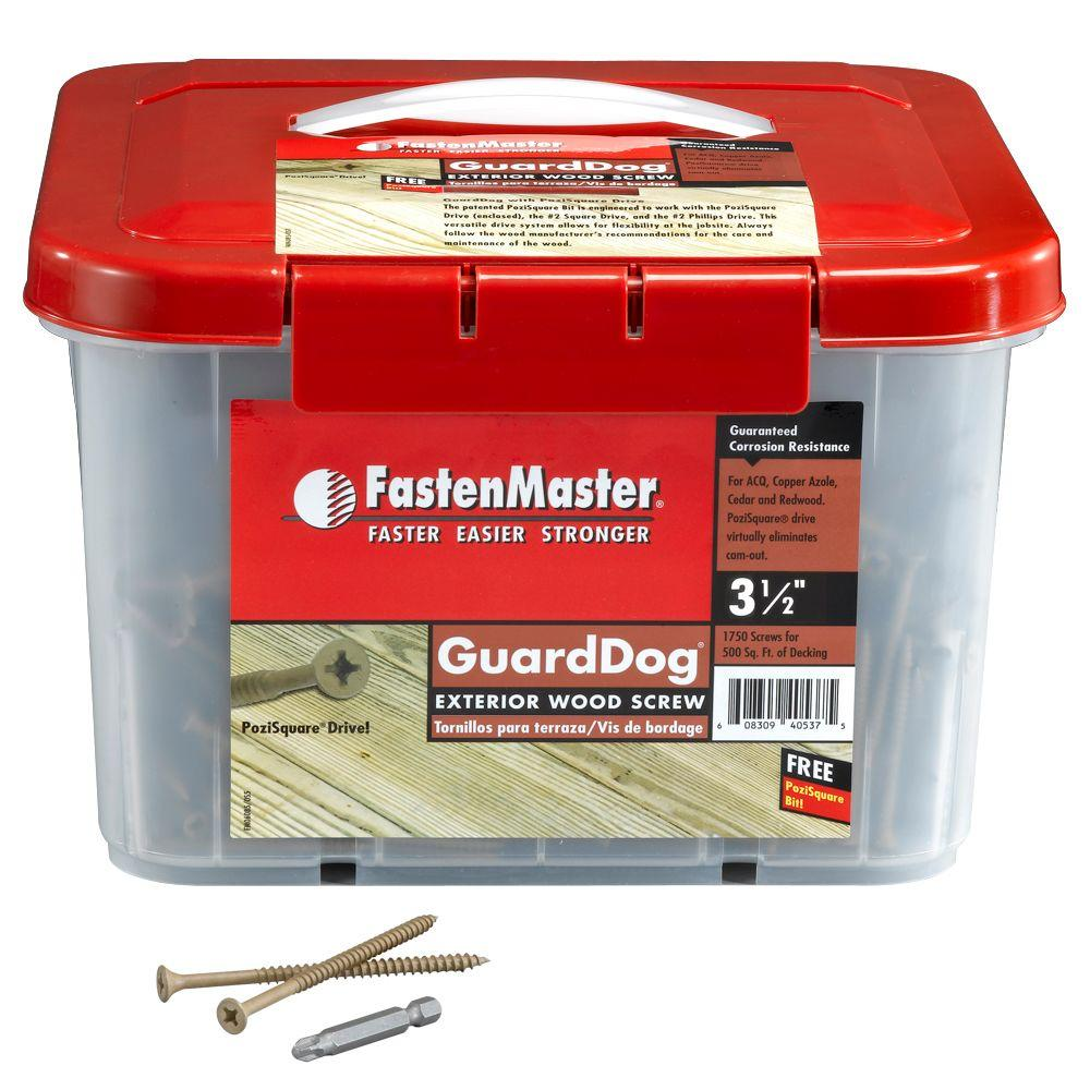 FastenMaster Guard Dog 3-1/2 in. Wood Screw (1350 per Pack)