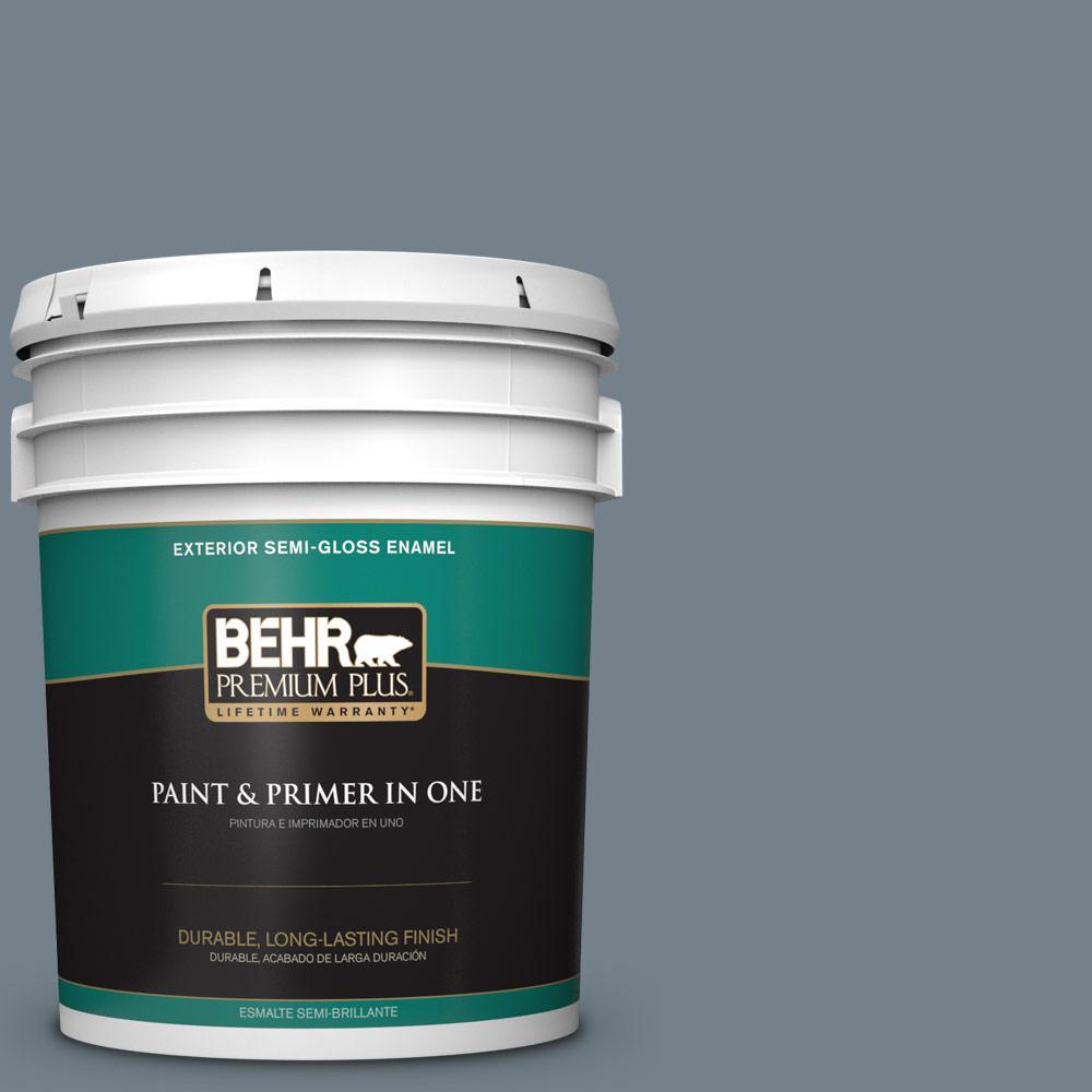 5 gal. #PPU13-04 Atlantic Shoreline Semi-Gloss Enamel Exterior Paint