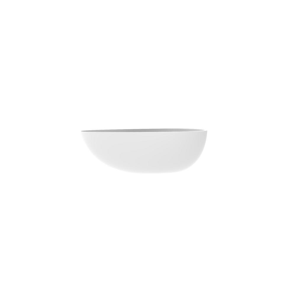 Badeloft USA Badeloft 67 in. Stone Resin Flatbottom Non-Whirlpool Bathtub in Matte White