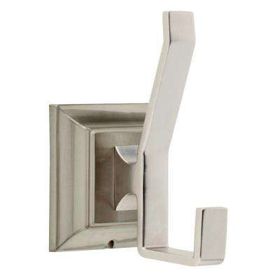 Lynwood Double Towel Hook in Brushed Nickel