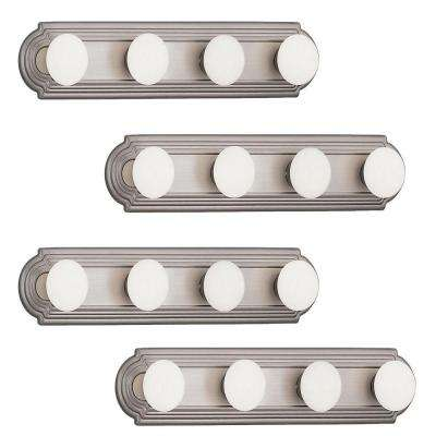 4-Light Chrome Bath Vanity Wall Mounted Light (4-Pack)