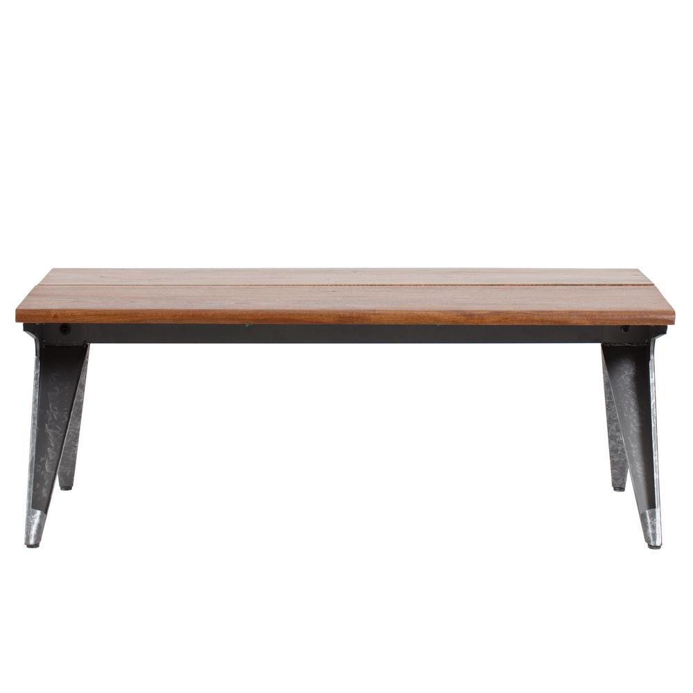 Armitage 18.50 in. Galvanize With Natural Wood Coffee Table