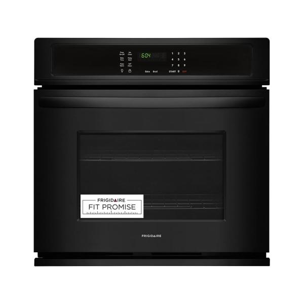 Frigidaire 27 in. Single Electric Wall Oven Self-Cleaning in Black