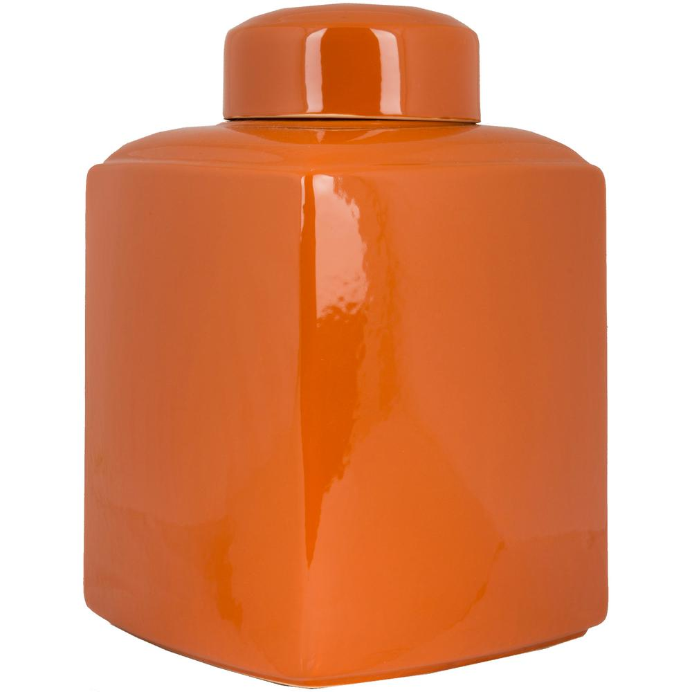 Esscha Burnt Orange 16 in. Decorative Jar