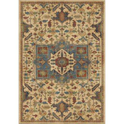 Antique Merekan Eastern Beige 5 ft. 3 in. x 7 ft. 6 in. Area Rug