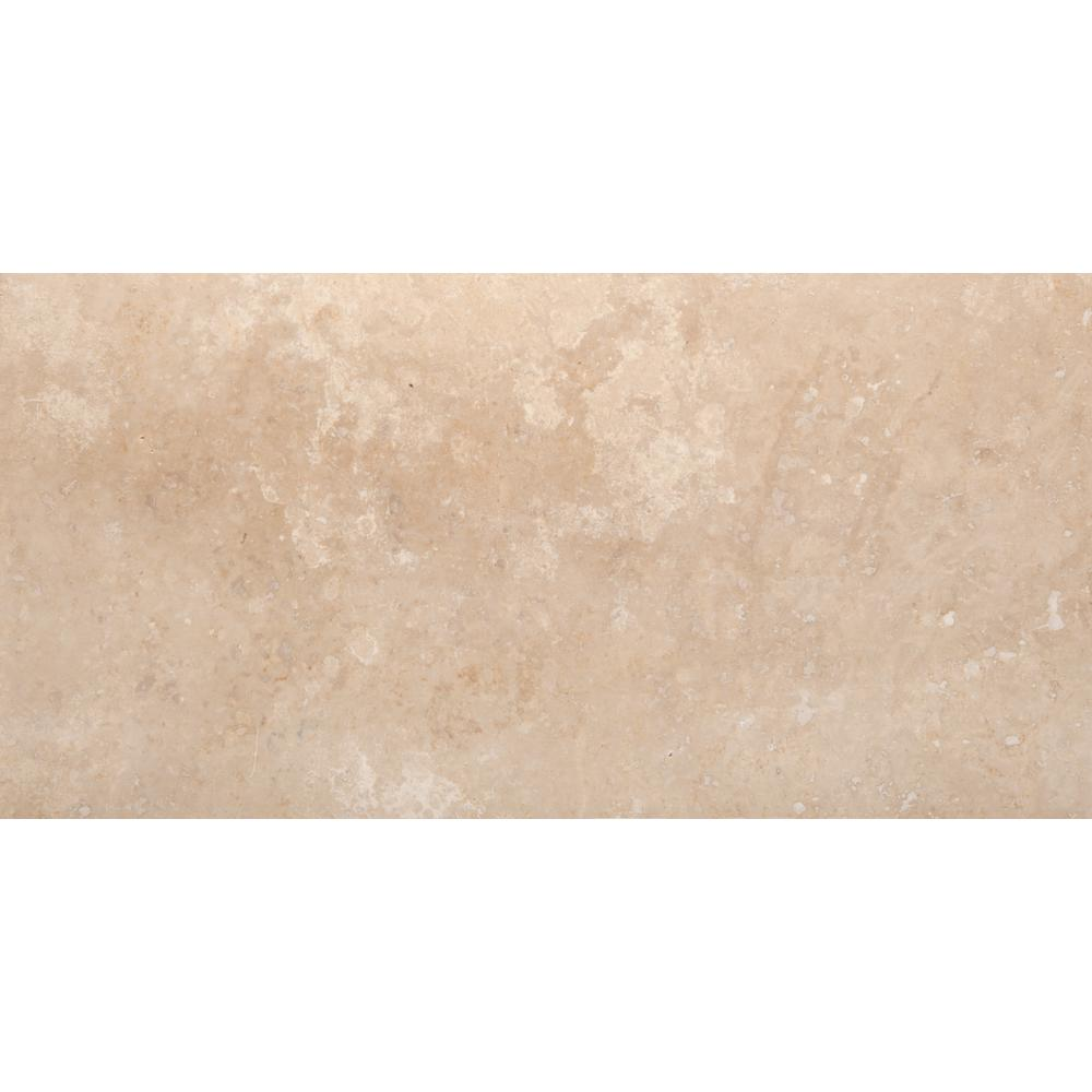 Emser Trav Crosscut Ivory Classic Filled and Honed 12 in. x 24 in. Travertine Floor and Wall Tile (2.0 sq. ft.)