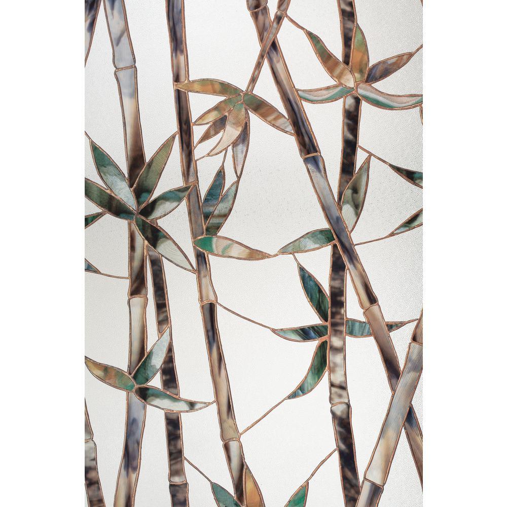 Glass Bamboo 24 in. x 36 in. Window Film