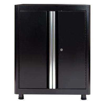 36 in. H x 30 in. W x 18 in. D Steel Base Cabinet in Black