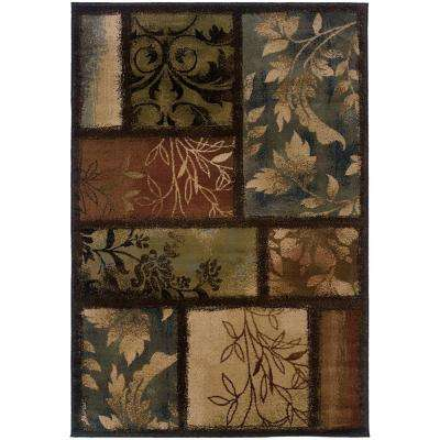 Branches Brown 4 ft. x 5 ft. Area Rug