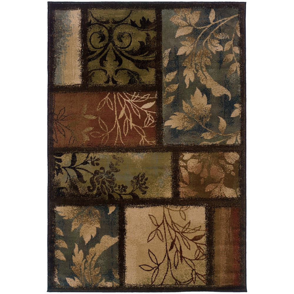 Home Decorators Collection Branches Brown 5 ft. x 8 ft. Area Rug