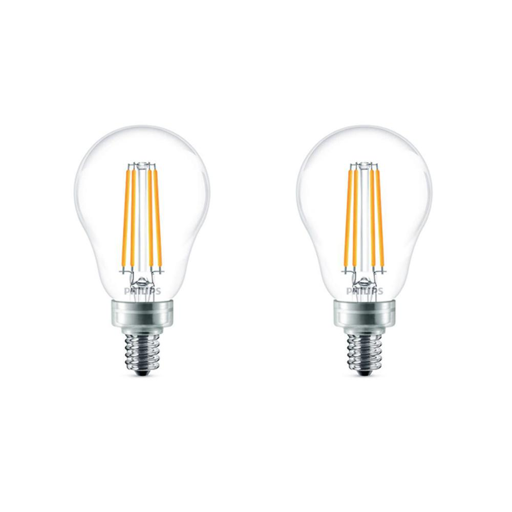 philips 60 watt equivalent a15 dimmable led light bulb soft white 2 pack 477760 the home depot. Black Bedroom Furniture Sets. Home Design Ideas