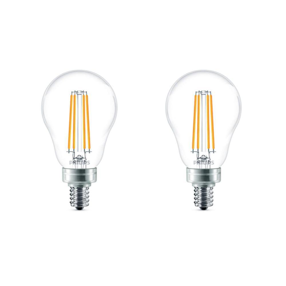 60-Watt Equivalent A15 Dimmable LED Light Bulb Soft White (2-Pack)