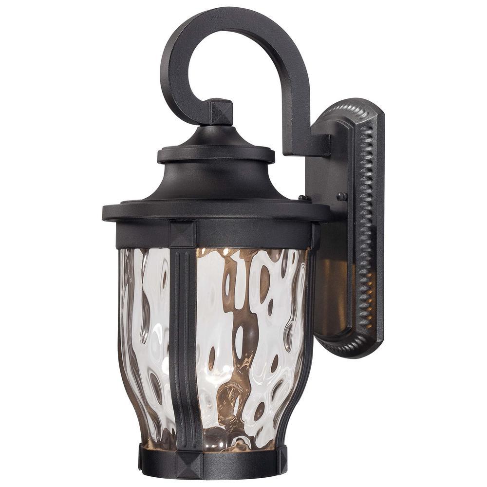 Merrimack 1-Light Black Outdoor Integrated LED Wall Lantern Sconce