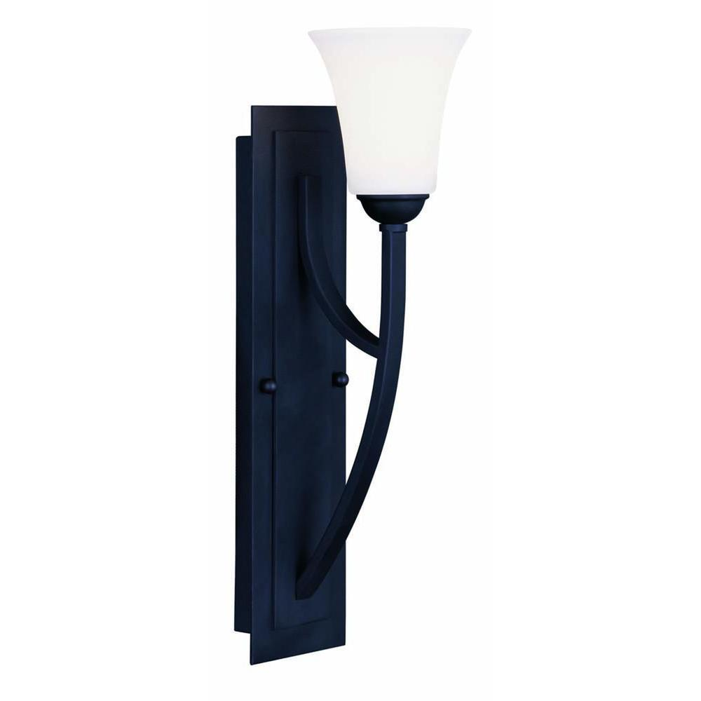 Livex Lighting Providence 1-Light Black Incandescent Wall Sconce
