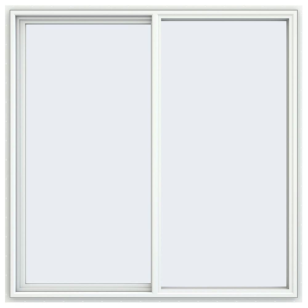 59.5 in. x 59.5 in. V-4500 Series Left-Hand Sliding Vinyl Windows - White
