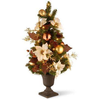 3 ft. Decorative Collection Inspired by Nature Entrance Artificial Christmas Tree with Clear Lights