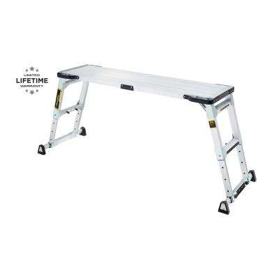 55 in. x 14 in. x 20 in. Aluminum Heavy-Duty Adjustable-Height PRO Slim-Fold Work Platform with 300 lbs. Load Capacity