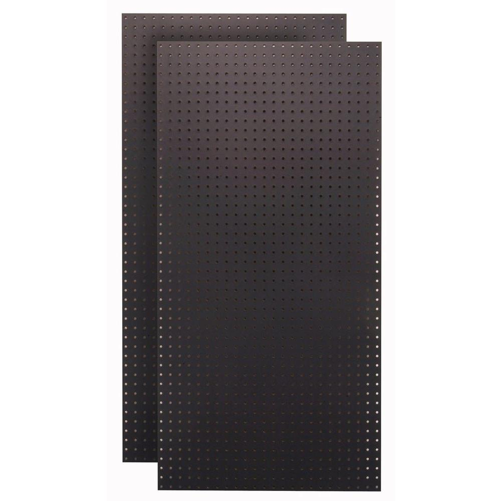 1/4 in. Custom Painted Jet Black Pegboard Wall Organizer (Set of