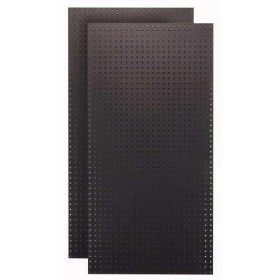 1/4 in. Custom Painted Jet Black Pegboard Wall Organizer (Set of 2)