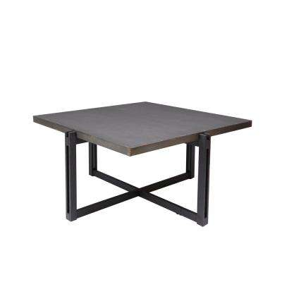 Dakota Bronze  Square Metal Top Coffee Table