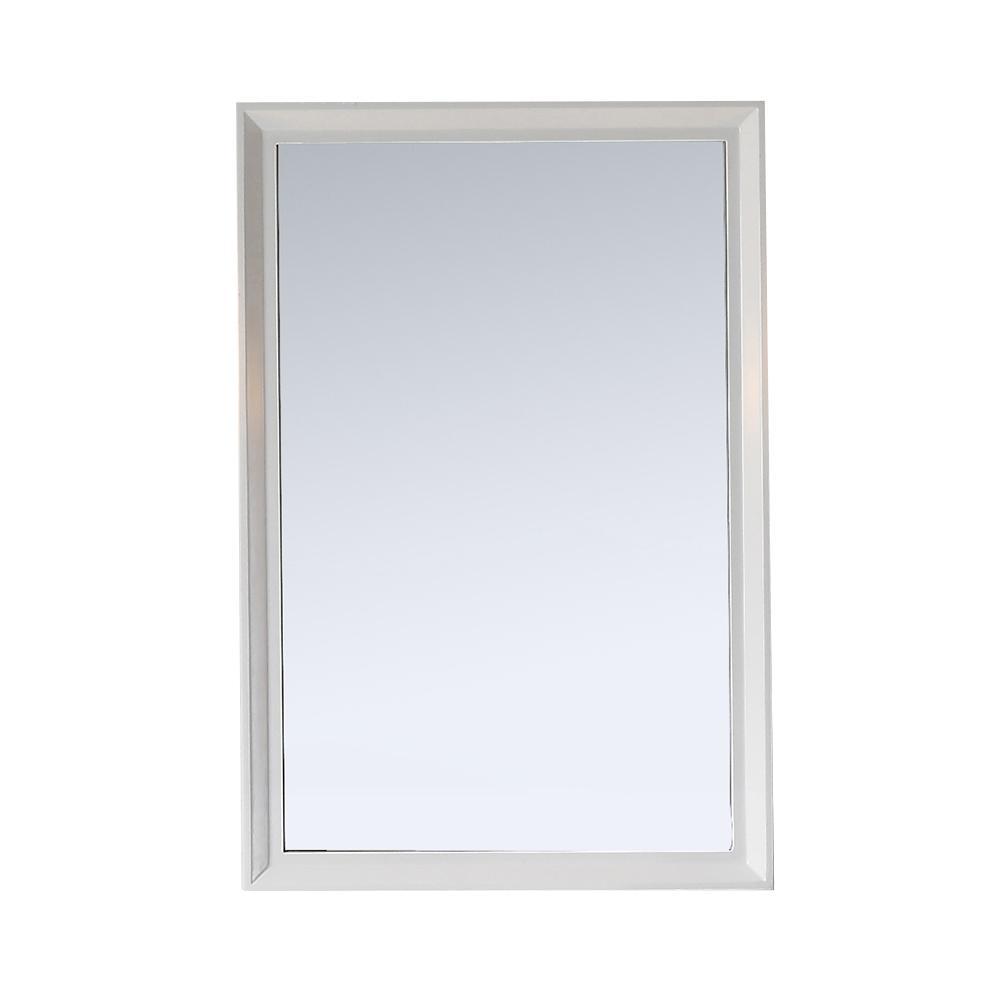 Martha Stewart Living Parrish 24 in. x 36 in. Framed Wall Mirror in ...