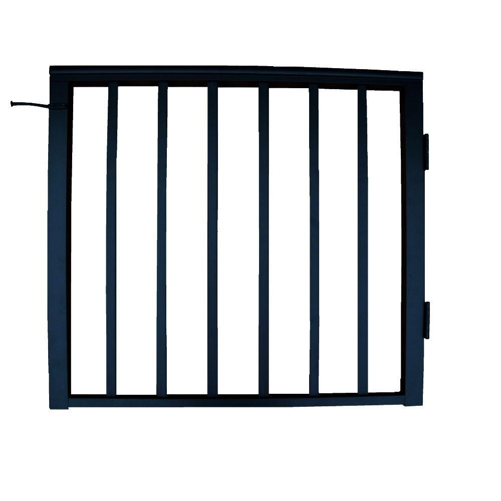 EZ Handrail 3 ft. x 3 ft. Aluminum Single-Panel Gate