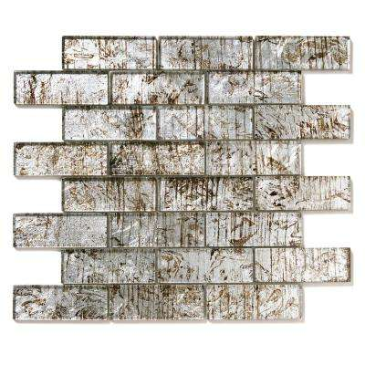 Folia Silver Maple 12 in. x 12 in. x 6.35 mm Glass Mesh-Mounted Mosaic Wall Tile (10 sq. ft. / case)