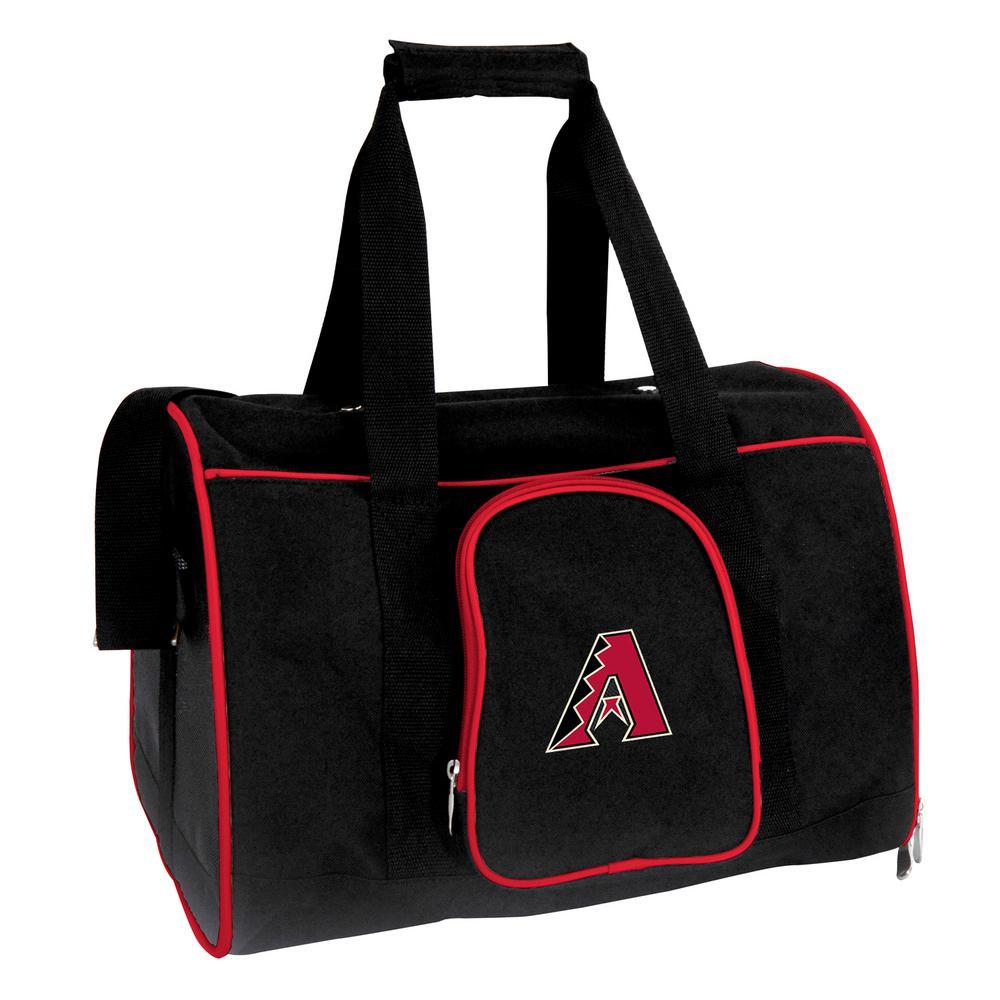 MLB Arizona Diamondbacks Pet Carrier Premium 16 in. Bag in Red