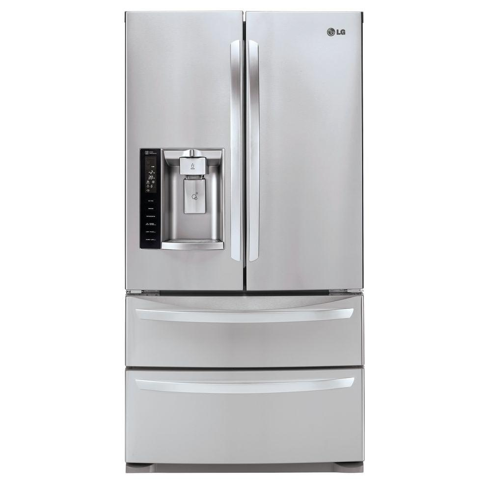 fingerprint steel stainless in door doors refrigerator ft resistant refrigerators p maytag french w cu