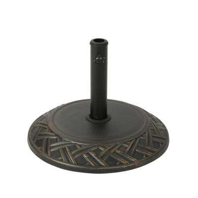 Glen 55.73 lbs. Concrete Patio Umbrella Base in Hammered Dark Copper