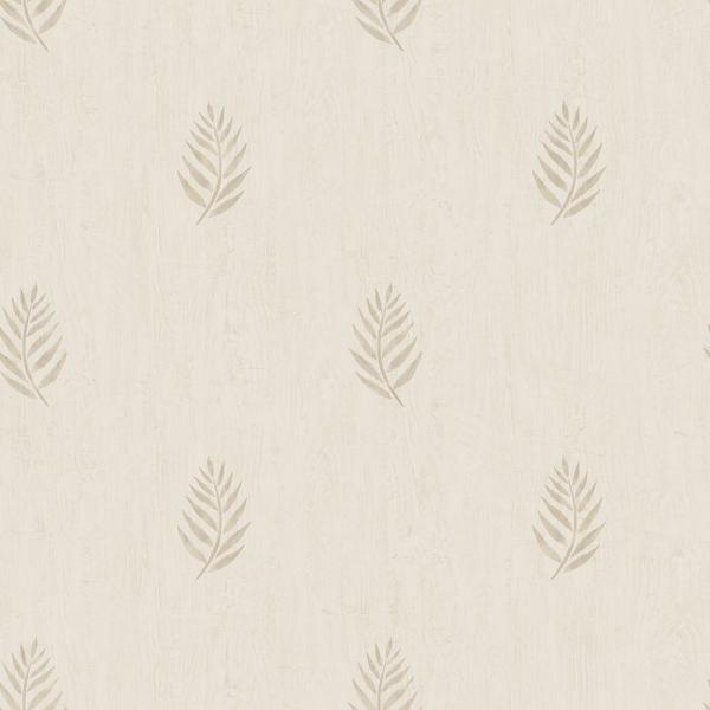 Chesapeake 56.4 sq. ft. Vista Beige Leaf Wallpaper 3117-12354