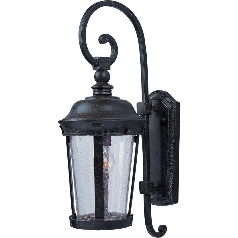 Dover DC 1-Light Bronze Outdoor Wall Lantern Sconce