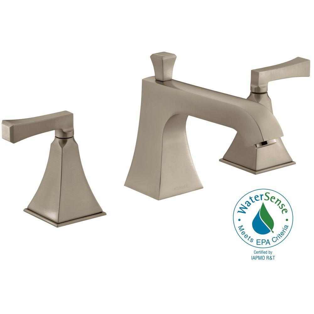 KOHLER Memoirs Bath or Deck-Mount High-Flow Bath Faucet Trim in Vibrant Brushed Bronze (Valve Not Included)