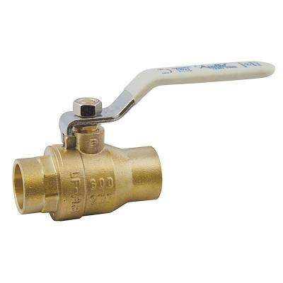 3/4 in. Lead Free Brass SWT x SWT Ball Valve