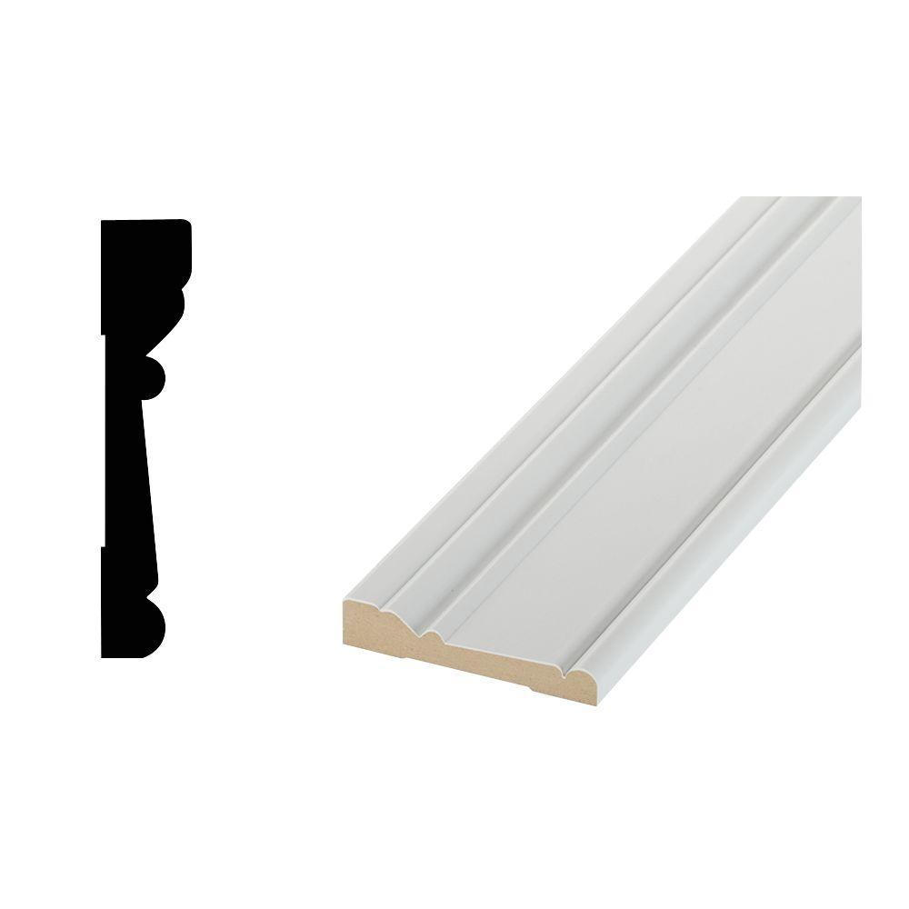 8041 11/16 in. x 3-1/2 in. x 96 in. Medium Density Fiberboard Stafford Casing