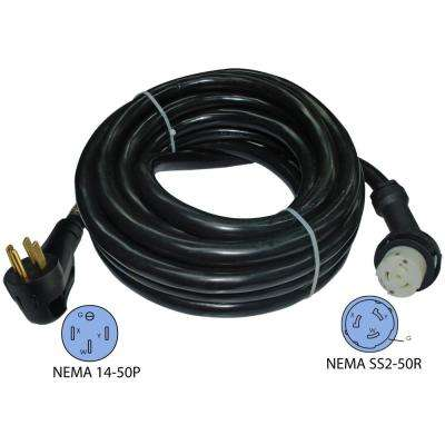 25 ft.6/3+8/1 RV 50 Amp Detachable Power Supply Cord With Ergo Grip and Light indicator