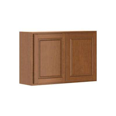 Madison Assembled 36x24x12 in. Wall Bridge Cabinet in Cognac