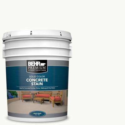 5 gal. White Solid Color Flat Interior/Exterior Concrete Stain