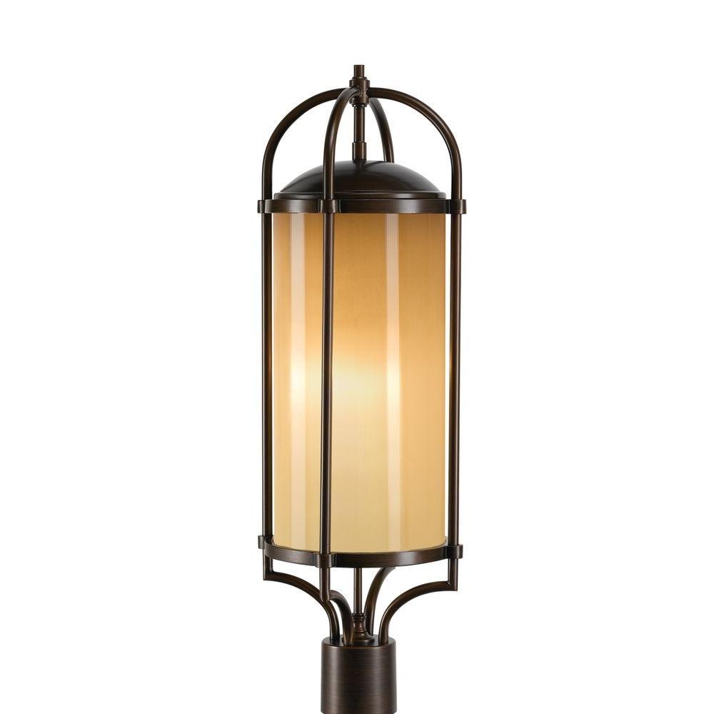 Dakota 1-Light Heritage Bronze Post Lantern