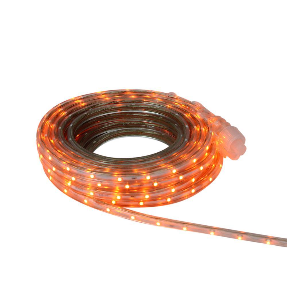 10 ft. 60-Light Orange LED Outdoor Christmas Linear Tape Lighting
