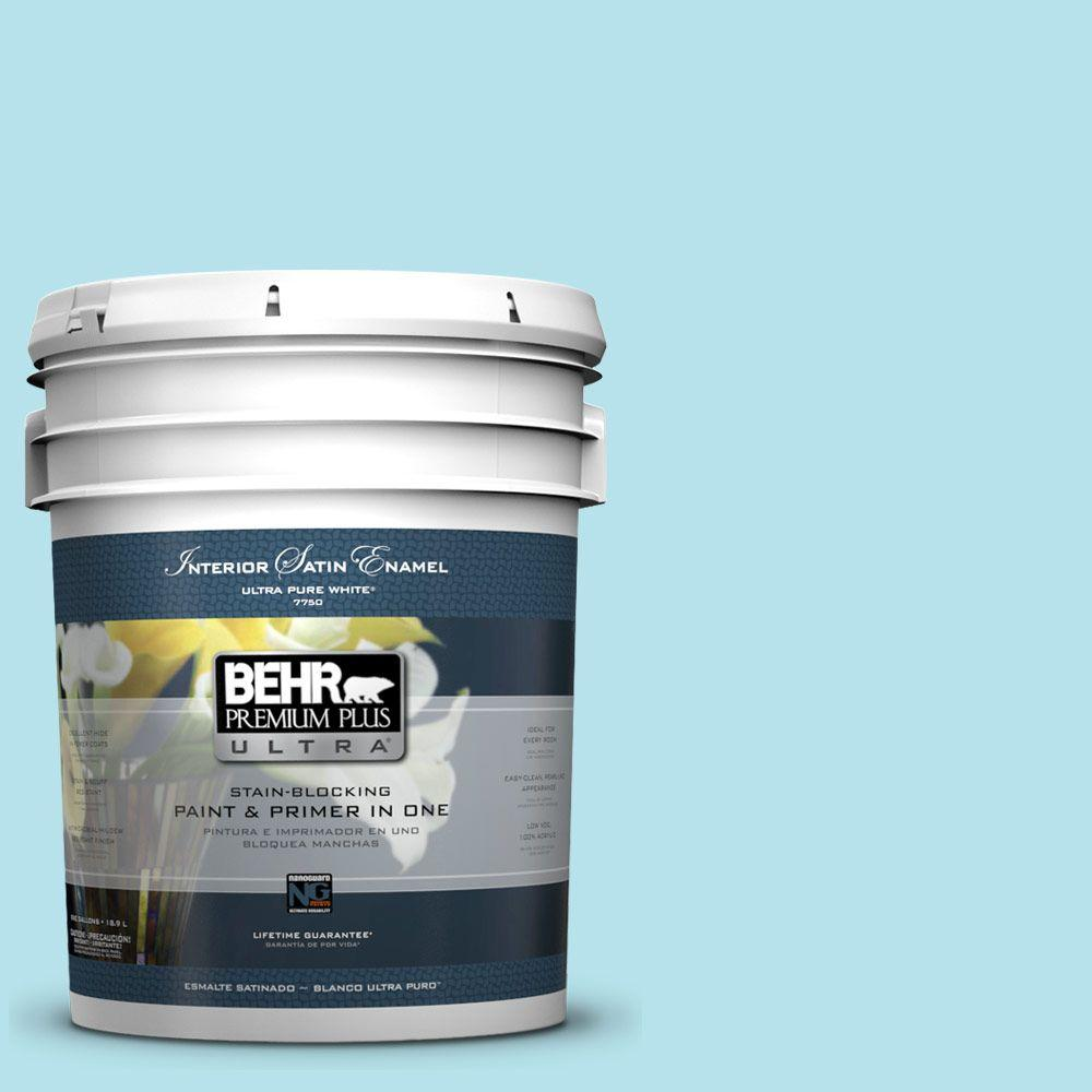 BEHR Premium Plus Ultra 5-gal. #510A-3 Fresh Water Satin Enamel Interior Paint